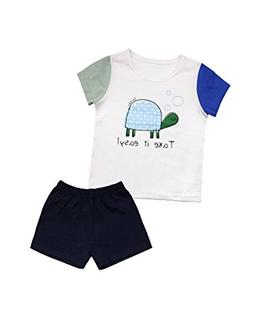 10STAR11 Boys Cute 100% Cotton Durable Colorful Patterned T-