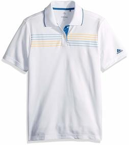 Adidas 155246 Youth Golf Chest Stripe Polo Shirt Size Youth