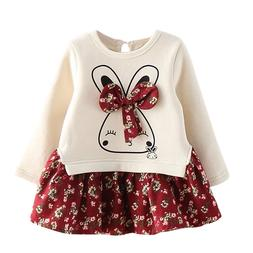 Danmoke 2-6years Autumn <font><b>Girl</b></font> Dress Cotto