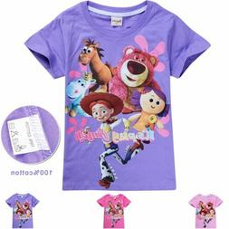 2019 Toy Story 4 Forky T-shirt Kids Tops Girls Clothing Tops