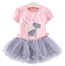 2Bunnies Girl Cat 3D Sequin Bow Sparkle Tutu Butterfly Tulle