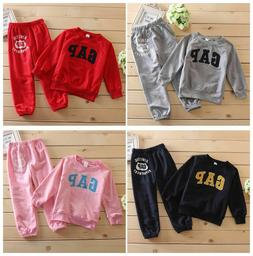 "2Pcs Children Baby Kids Girls/Boys Clothing Sets ""GAP"" Print"