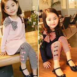 Toddler Kids Baby Girls Outfits Casual T-shirt Dress Top Lon