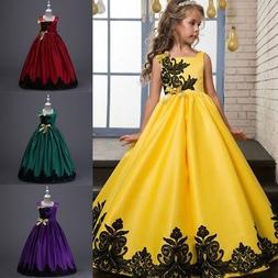 3-14Y Princess Girls Long Dress Prom Gown Evening Party Page