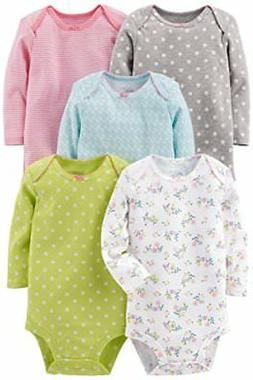 5-Pack Long Sleeve Bodysuit Simple Joys by Carter's for Baby