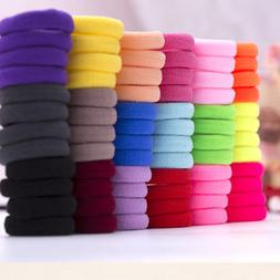 50Pcs Women Girls Hair Band Ties Rope Ring Hairband Cloth Ho