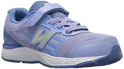 New Balance Girls' 680V5 Hook and Loop Running Shoe, Ice Vio