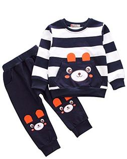 Ancia 2017 Baby Boys Kids 2 Pieces Fall Clothing Set T-Shirt
