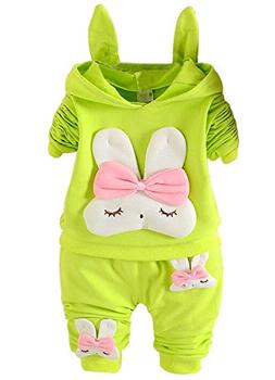 Ancia Fall Winter Toddlers Kids Girls Hoodie Top Pants Cloth