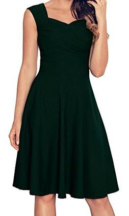 Angerella Womens Retro Dresses Elegant Green Cocktail Dresse