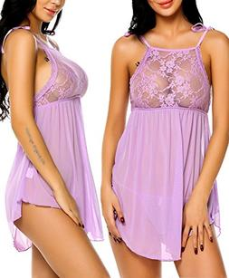 Avidlove Lingerie For Women Nighties Sleepwear Lace Babydoll