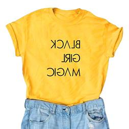 BLACKOO Women's Cute T Shirt Juniors Tee Graphic Tops Yellow