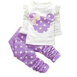 Baby Girl Clothes Infant Outfits Set 2 Pieces Long Sleeved T