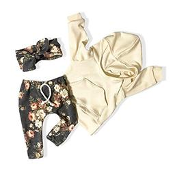 Baby Girl Clothes Long Sleeve Hoodie Sweatshirt Floral Pants