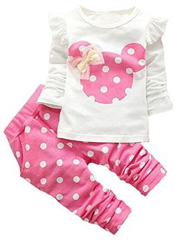 Baby Girls' 2 Pieces Polka Dot Top Leggings Clothing Set Out