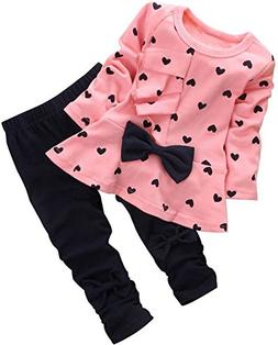 d2414893983e Editorial Pick BomDeals Baby Girl Cute 2pcs Set Children Clothes Suit Top a