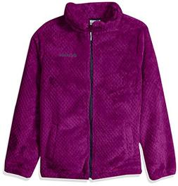 Columbia Big Girls' Fluffy Fleece Full Zip, Bright Plum, Noc