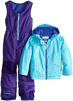 Columbia Little Girls' Frosty Slope Set, Atoll Emboss, 2T