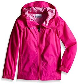 Columbia Little Girls' Switchback Rain Jacket, Haute Pink, X