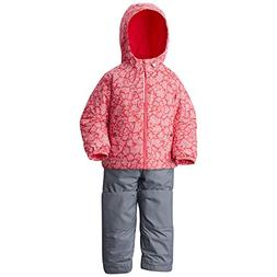 Columbia Little Girls' Toddler Frosty Slope Set, Punch Pink