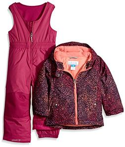 Columbia Toddler Girls' Frosty Slope Set, Deep Blush Snow Sp