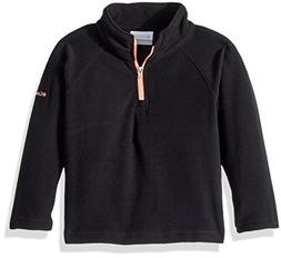 Columbia Toddler Girls' Glacial Fleece Half Zip, Black, Tiki