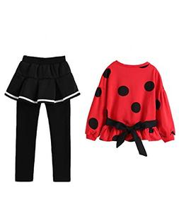 Cute Little Girls 2 Pieces Clothing Set Outfit Top+Leggings