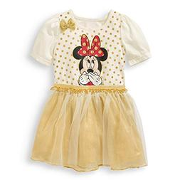 Disney Junior Minnie Mouse Toddler Girl Tutu Dress With 3D B