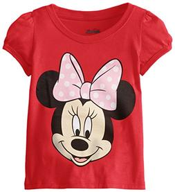 Disney Little Girls' Toddler Minnie Mouse T-Shirt, Red Cherr