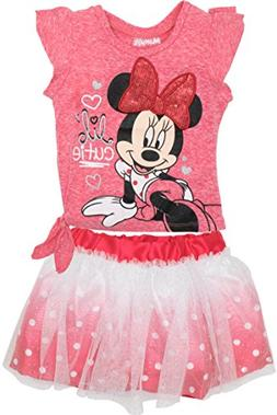 Disney Minnie Mouse Toddler Girls' Fashion T-Shirt and Tulle