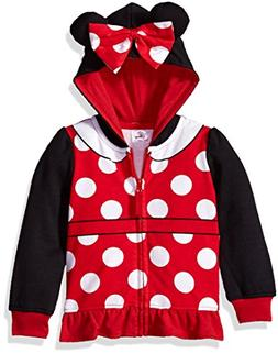 Disney Girls' Toddler Minnie Mouse Costume Zip-up Hoodie, Bl