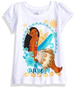 Disney Toddler Girls' Moana Short-Sleeved T-Shirt, White, 5T