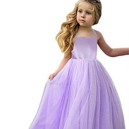 Dress,2018 Kids Baby Girls Lace Pageant Princess Dress Solid