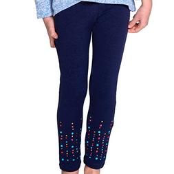FashionxFaith Girls Leggings Pants - Candy Collection Navy M