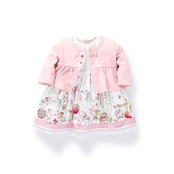 Ferenyi's Baby Girl's Clothes Long-sleeved Jacket With Flora