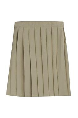 French Toast Big Girls' Pleated Skirt, Khaki, 12