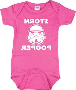 Funny Baby Girl Bodysuit, Storm Pooper for Girls, Star Wars