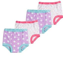 Gerber Baby and Toddler Girls' 4 Pack Training Pants. Butter