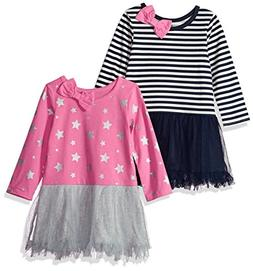 Gerber Graduates Baby Girls' 2 Pack Dresses, Stars/Stripes,
