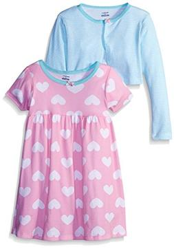 Gerber Little Girls' Toddler Two-Piece Cardigan and Dress Se