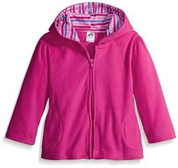 Gerber Toddler Girls' Hooded Micro Fleece Jacket, Fuchsia, 4