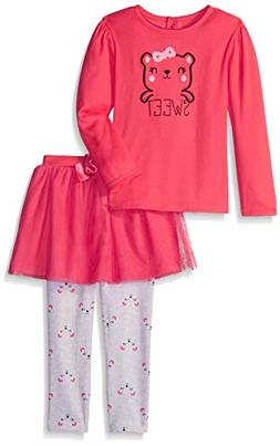 Gerber Toddler Girls' Shirt and Tutu Legging Set, Bear, 5T