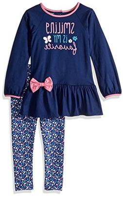 Gerber Toddler Girls Tunic and Legging Set, Smiling, 5T