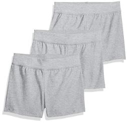 Hanes Little Girls' Jersey Short , Light Steel, Small