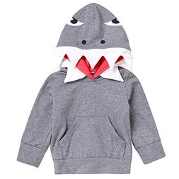 Happy Town Toddler Unisex Baby Boy Girl Shark Hoodies Hooded