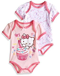 dba014d28 Hello Kitty Baby Girls' 2 Pack Bodysuits.