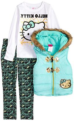 Hello Kitty Baby Girls' 3 Piece Tee, Vest, and Legging Set,