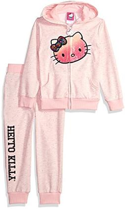 Hello Kitty Little Girls' 2 Piece Embellished Active Set, So