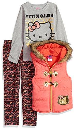 Hello Kitty Toddler Girls' 3 Piece Tee, Vest, and Legging Se
