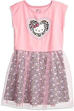 Hello Kitty Big Girls' Embellished Tutu Dress, Light Pink, 8